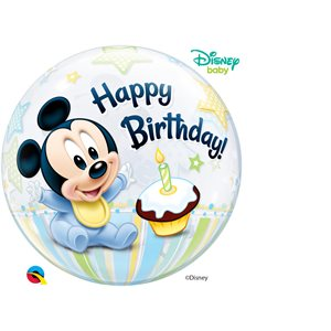 "22""M.MICKEY MOUSE 1ST BIRTHDAY BUBBLES"