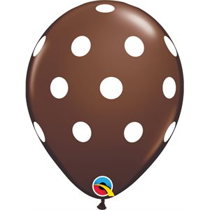 11'' B. BIG POLKA DOTS BROWN P / 50 QTX