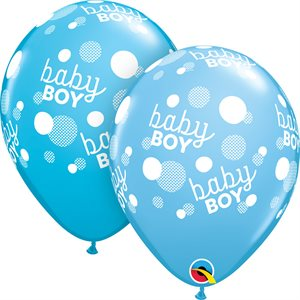 11'' B. BABY BOY BLUE DOTS A / A P / 50