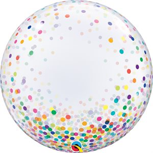 B.24'' DECO BUBBLE COLORFUL CONFETTI